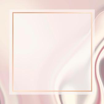 골든 스퀘어 프레임 소셜 광고 템플릿