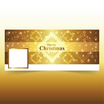 ゴールデンスクエアスターズクリスマスfacebookカバー