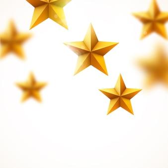 黄金の星の背景。