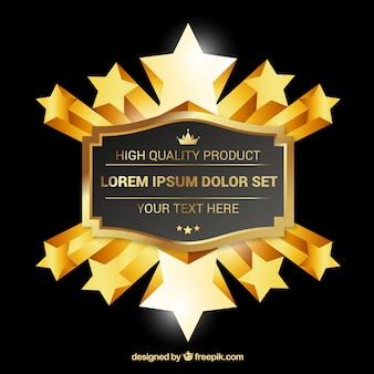 Golden star badge