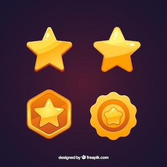 Collezione di stelle dorate
