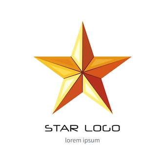 Golden star logo template