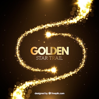 Golden star trail set