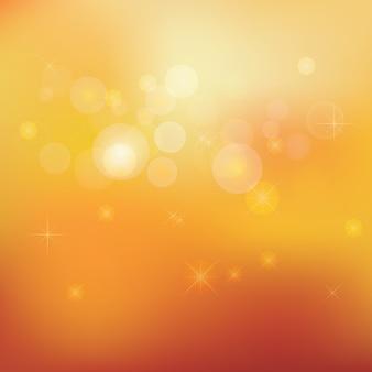 Golden stardust bokeh and stars background