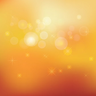 Golden stardust bokeh and stars background