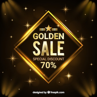 Golden starry sale background