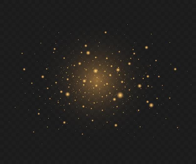 황금빛 별은 어둠 속에서 특별한 빛으로 빛납니다.