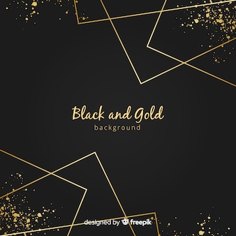 Golden straight lines background