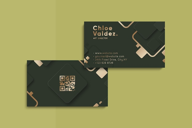 Golden style business card template