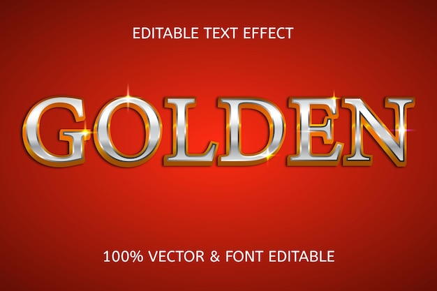 Golden style luxury editable text effect