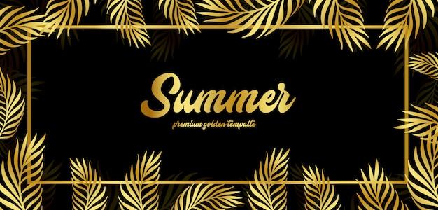 Golden summer floral background