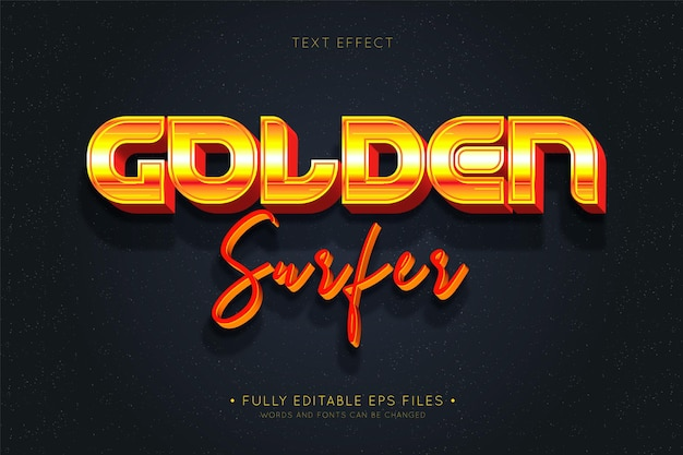 Golden surfer text effectret