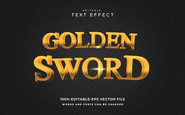 Golden sword text effect