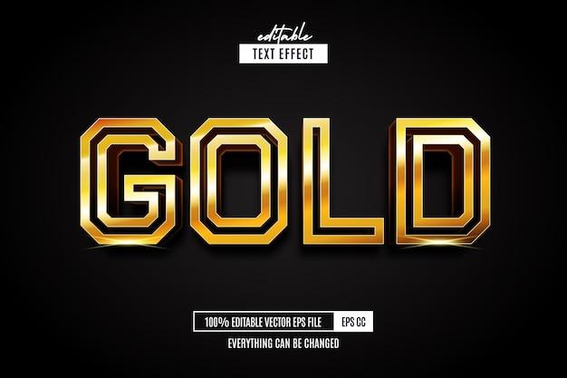Золотой текстовый эффект редактируемый золотой стиль шрифта текста