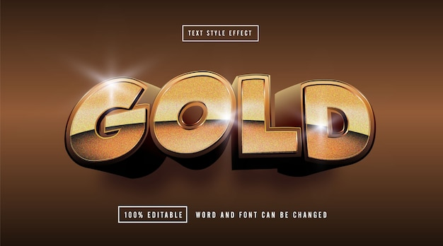 Golden text effect editable