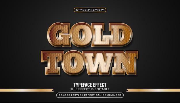 Golden text effect with glamour