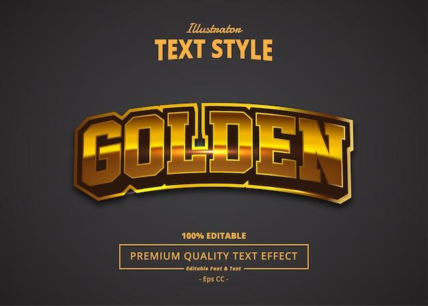 Golden text effect