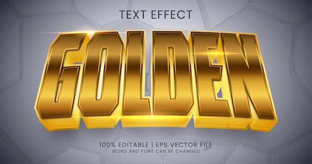 Золотой текст, блестящий редактируемый стиль текстового эффекта
