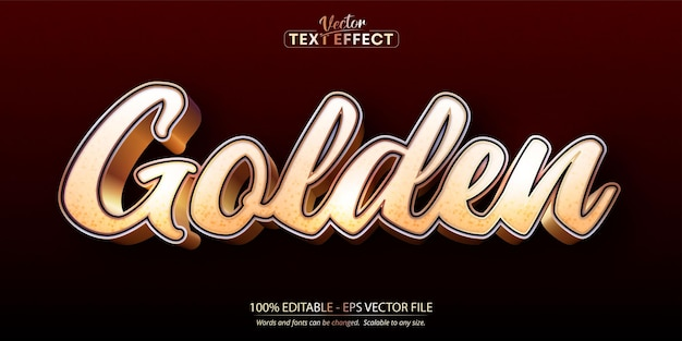 Golden text, shiny gold style editable text effect