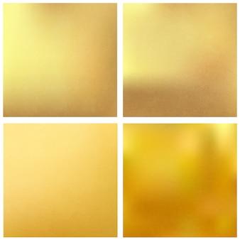 Золотые текстурированные квадратные фоны.