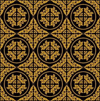 Golden thai seamless pattern