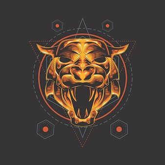 Golden tiger sacred geometry