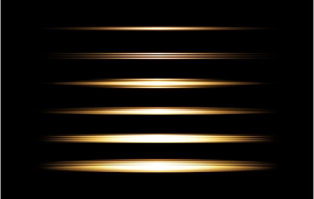 Золотой прозрачный свет линзы вспышки