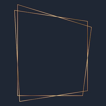Golden trapezoid frame template vector