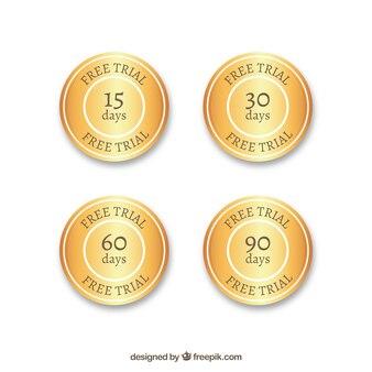 Distintivi di prova d'oro