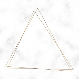 Golden triangle frame template vector