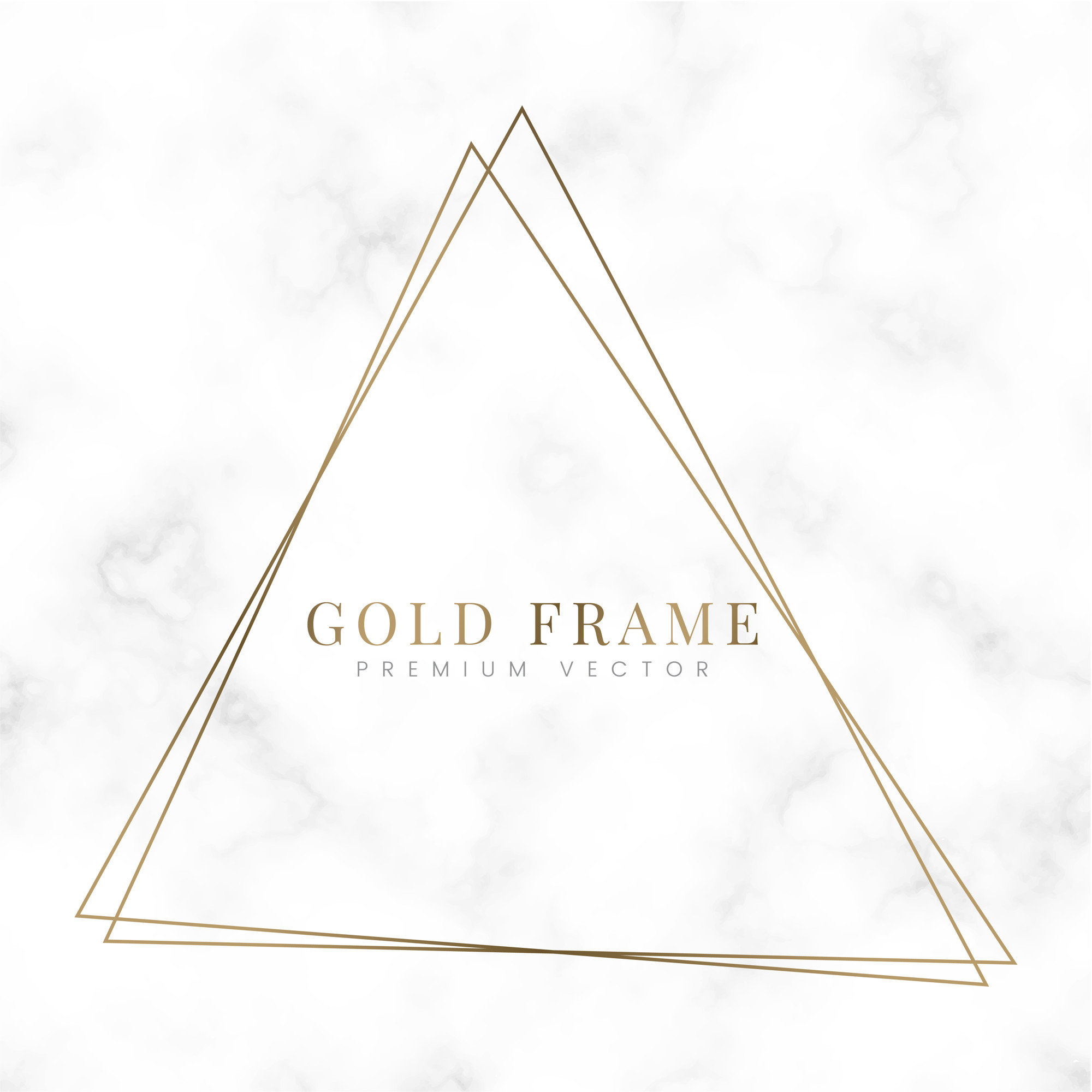 Golden triangle frame template