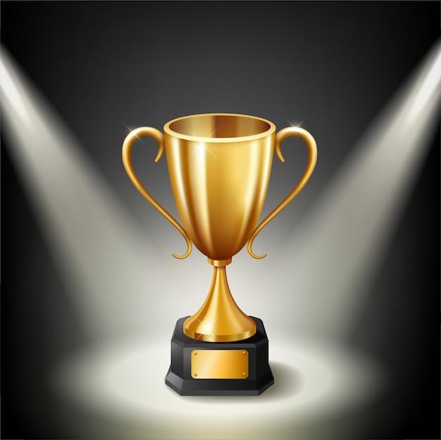 Реалистичный прожектор golden trophy с подсветкой