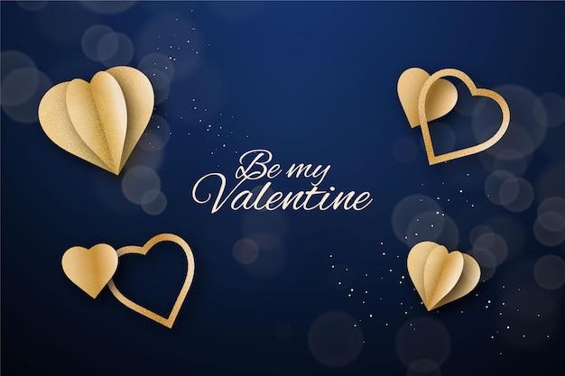 Золотой день святого валентина фон