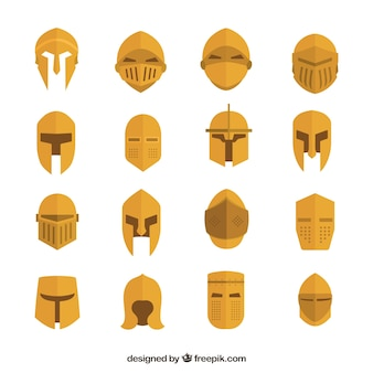 Золотое разнообразие средневековых шлемов