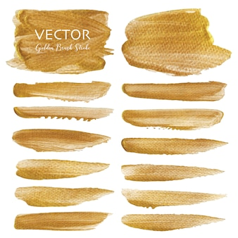 Golden vector brush stroke
