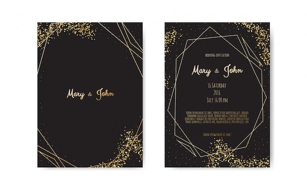 Golden vector invitation
