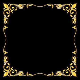 Golden vector ornate royal fleur de lys frame