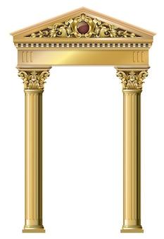 Golden vintage arch
