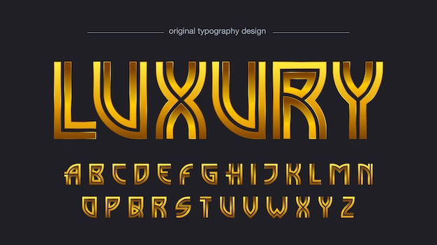 Golden vintage decorative typography