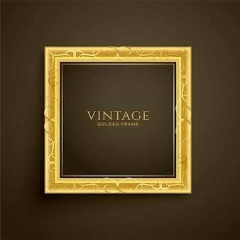 Golden vintage luxury frame design