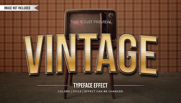 Golden vintage text style effect