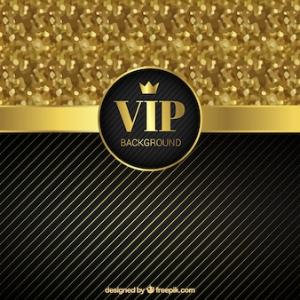 Golden vip background with glitter