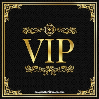 Golden vip background with ornaments