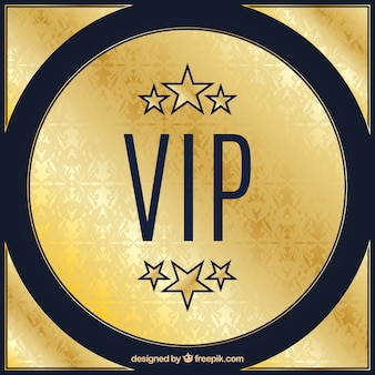 Golden vip background with stars