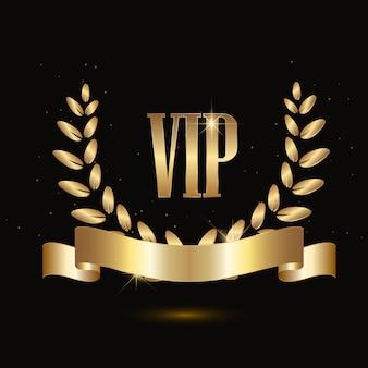 Golden vip banner