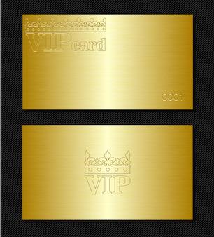 ゴールデンvipカード。つや消しメタルの表面