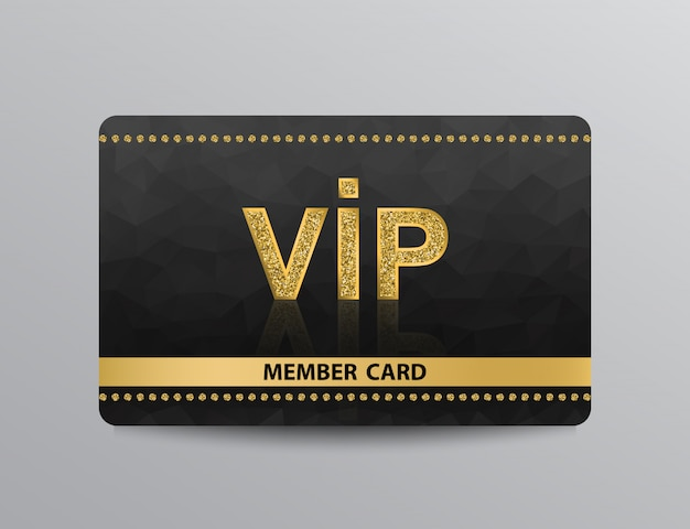 Golden vip card with rivets