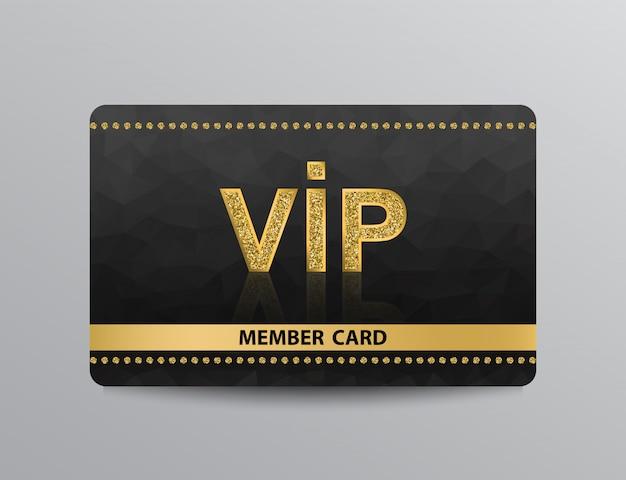 리벳이있는 황금 vip 카드