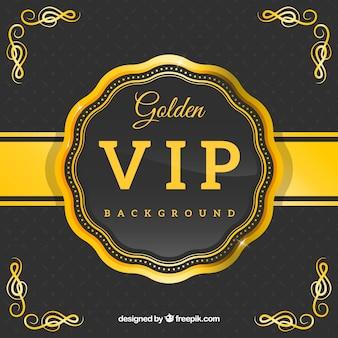 Golden vip retro badge background