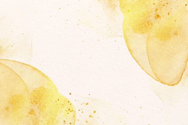Golden watercolor paint background